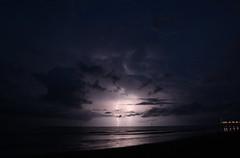 Triple Lightning (20596) (Grosses mchtiges Mnnchen) Tags: sea night nacht thunderstorm lightning blitz gewitter lignanosabbiadoro