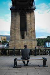 IMG_4458.jpg (FocusedMemories) Tags: bridge man river newcastle day hard tyne suit thinking worktrip