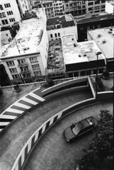 Parking Garage, Bush Street, SF (nico.padayhag) Tags: sf life sanfrancisco people urban blackandwhite film architecture 35mm buildings streetphotography prints darkroomm