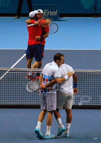 Radek Stepanek - Hugs all round
