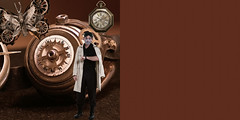 (Cleon Morais) Tags: england clock cake cat mushrooms time alice gears cheshirecat steampunk drinkme alicewonderland victorianland