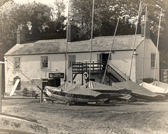 Lydney Yacht Club (radleyfreak (out of circulation)) Tags: blackandwhite sepia vintage gloucestershire riversevern forestofdean lydney lydneyharbour lydneyyachtclub