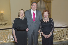Honoree David L. Cohen with Sara Garonzik and Priscilla M. Luce