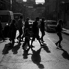 (felocar) Tags: chile urban backlight valparaiso shadows father young pedestrian son sombra