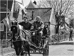 Ring stabbing (vrijstaat) Tags: street people bw horse holland blancoynegro netherlands monochrome photography candid nederland streetphotography bn zwart wit paard ringsteken ransdorp straatfotografie ringriding powershotg1x