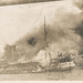 Ship engulfed in flames