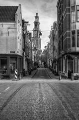 Egelantiersgracht Amsterdam (m0nt2) Tags: street city church amsterdam blackwhite outdoor jordaan egelantiersgracht westerkerk m0nt2 keepthestreetsempyforme