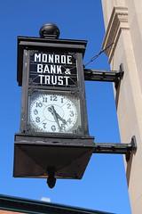 Monroe Bank & Trust Clock (RickM2007) Tags: clock time finance oldclock monroebanktrust banktrust monroemichiganbank