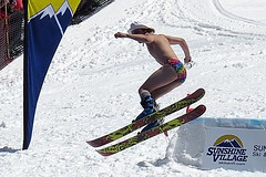 87th Annual Slush Cup (5of7) Tags: ski cold male fun crazy jump skiing fav speedo sunshinevillage slushcup 2015