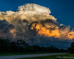 Building Storm at Sunset (DonMiller_ToGo) Tags: hdr cloudporn nik 3xp hdrphotography nature thunderstorm onawalk sky d5500 goldenhour outdoors florida clouds