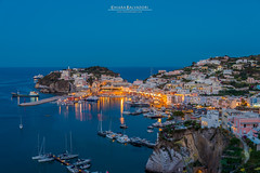 Ponza (Chiara Salvadori) Tags: italia ponza travel traveling landscape italy nature seascape sea mediterraneansea mediterranean sundown sunset bay cliff summer dove doveviaggi magazine mare latina bluehour harbour port city village