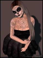 Sugar Doll 2 (Prudence Rexroth) Tags: littlebones letis letistattoo sugarskull halloween catwagwen maitreyalara petitemort fabfree sl secondlife octobergroupgifts essences