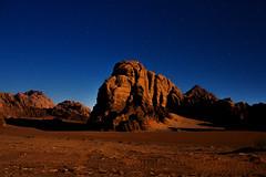 (Mathijs Buijs) Tags: desert night stars rock moonlit mountains moon moonlight light jordan middleeast canon eos 7d
