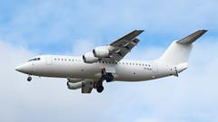 VH-NJH editted (Al Henderson) Tags: 146 avro airport rj100 nationaljetsystems aviation egtc cranfield bedfordshire bae vhnjh 100 planes rj england unitedkingdom gb