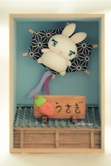 DIY dollhouse,Japanese style dollhouse,handmade lucky cat,DIY miniature,handmade home deco,handmade art dolls (charles fukuyama) Tags: rabbit bunny cute claydoll woodenbox japanstyle miniature dollhouse gift birthday sculpted handmadedoll custom animals deskdecor kikuike unique conejo hase  lapin