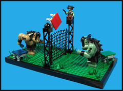 Table Tennis - Troll Style (Karf Oohlu) Tags: lego moc troll orc tennis tabletennis vignette sport tennisnet tenniscourt