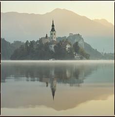 Lake Bled (steve-jack) Tags: hasselblad 501cm 150mm kodak ektar lake bled slovenia film 120 6x6 medium format