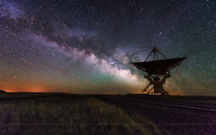 Milky way and big antenna dish, telescope (wisanuboonrawd) Tags: america ariglow astronomy astrophotography communication connect contact core dark earth galactic galaxy gas landscape light longexposure loving milky nebula newmexico night nightscape observe pollution powerful radar rail receiver science sign signal sky space star starry station structure technology travel verylargearray way