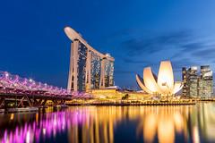 Marina Bay Sands (Bryan Lumadjeng) Tags: city cityscape singapore marina bay sands asia travel architecture sunset bluehour helix bridge explore longexposure exposure blending
