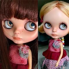 More Scalp Swap Fun (Chassy Cat) Tags: fashion blythe doll bohemian peace bp bohemianpeace chassycat custom neo takara puppelina eyechips odd princess oddprincess romance shabby