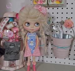 sweet baby (Eenie Q) Tags: lilly chinalillycustom misscarousella sleepingelfwig anniedollzwig eenieqdress bubblegum sew sewing pink blue blythe takara ootd