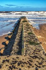 Hendon Beach (robinta) Tags: sea seascape pentax hendon beach sunderland groyne ks1 sigma18200mmhsmc sand rock waves surf landscspe blur water architecture tide longexposure