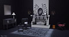 670  Dark Athmosphere (Sannita_Cortes) Tags: secondlife sl virtualworld virtualfurniture furniture decoration virtualdecoration decor halloween dark spirit swank twe12ve woodworks blissiere 3rdeyeperception 3rdeye parkplace