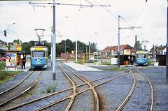 Once upon a time - Belgium - Gent Wondelgem (railasia) Tags: belgium flanders gent gand wondelgem mivg metergauge routenº1 routenº10 motorcar pcc bidirectional infra terminus tramstop eighties