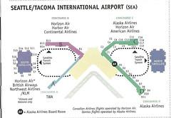 Alaska SEA diagram, December 1999 (airbus777) Tags: alaskaairlines as airport diagram map terminal seattletacoma seatac 1999