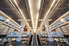 You and Me, Me and You (Thomas Hawk) Tags: california sfo sanfrancisco sanfranciscointernationalairport usa unitedstates unitedstatesofamerica airport escalator fav10