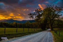 Cades Cove Sunrise (The Suss-Man (Mike)) Tags: cadescove clouds fence greatsmokymountainsnationalpark mountains nature northgeorgiaphotographyclub sky smokymountains sonyslta77 sparkslane sunrise sussmanimaging tennessee thesussman trees townsend unitedstates