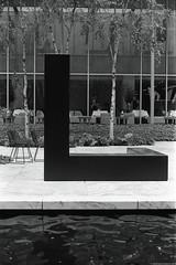 Tony Smith : Free Ride. MoMA, NYC. (setpower1) Tags: minoltasrt102 kodaktrix kodakd76 bw vintagefilmcamera 35mmfilm hoyak2 newyorkcity nyc minolta58mmf14mcrokkor moma museumofmodernart tonysmith