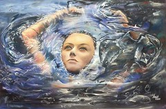 Woman in oil outflow. (lukajokhadze) Tags: art paint painting amazing beautiful work oil outflow woman sell facebook