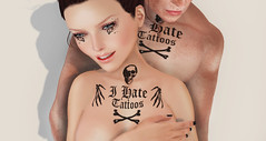 Hate tattoo (male and female) is the gift of the new week! (THIS IS WRONG - tattoo design & clothes) Tags: gift almost free applier tattoo promo sales ink inked hate tattoos maitreya belleza slink male female signature gianni adam