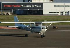 G-BAYO. (aitch tee) Tags: cardiffairport aircraft generalaviation gbayo cwlegff maesawyrcaerdydd walesuk cessna150