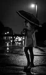 Beautiful Night (R*Wozniak) Tags: blackwhite nikond750 rain night women noir bw smoking dof street
