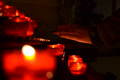 A touch (... Alicia H. Trtoles) Tags: fire candle allhallowseve allsaintsday hallows silence red