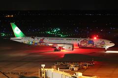 EVA Air Boeing 777-35E(ER) B-16722 (Mark Harris photography) Tags: spotting aircraft plane aviation iah houston eva boeing night