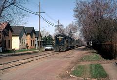 N&W 8486 Erie PA 4-73 (jsmatlak) Tags: railroad train engine locomotive freight nw