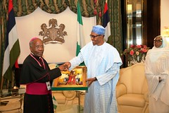 PRESIDENT BUHARI RECEIVES OUT GOING AMBOF HOLY SEE