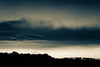 dusk on the dude ranch (PenelopeEfstop) Tags: autumn cloud dusk fall farm horizon horses landscape monochrome mood outdoor sunset silhouette
