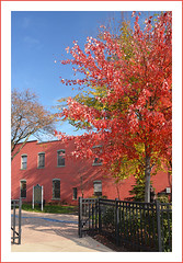 Elijah McCoy Courtyard in Ypsilanti, Michigan (sjb4photos) Tags: michigan ypsilanti washtenawcounty autumn elijahmccoy