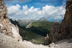Dolomite Mountain Trek (Photography by Sue) Tags: alta via 2 italy dolomites dolomitemountains scenery mountains trekking rifugio rufugio genova puez landscapes steep pass