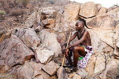 Unmarried Himba Man 4023 (Ursula in Aus) Tags: africa namibia offcameraflash himba portrait male
