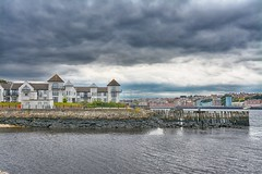 A view over the water (Andrew Laws) Tags: water house houses nikon d7100 edit edited hdr sky cloud clouds reflection pier beach seafront