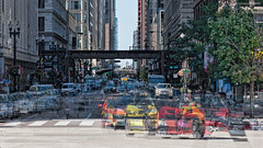 Michigan Avenue - Chicago, Illinois (Kim Johnson Images) Tags: chicago downtown theloop thel photoshop michiganavenue cta traffic congestion