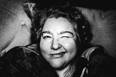 Hi there! (c-u-b) Tags: ringblitz selbstporträt ringlight blackandwhite schwarzweis kontrast contrast portrait porträt woman smile