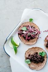 mole black bean taco (alaridesign) Tags: mole black bean tacos w cabbage cilantro slaw | v gf