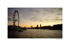 Twilight zone (London) (g.femenias) Tags: london england thames bigben londoneye palaceofwestminster twilight sunset moon sky boats