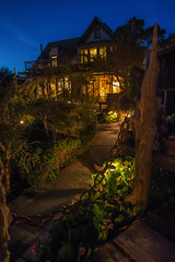 Alegria Inn (Paulo Enes) Tags: california hwy1 night alegria inn blue mendocino
